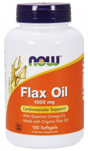 NOW Flax Oil Organic 1000мг (100 кап)