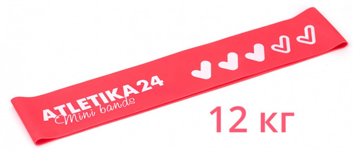 Фитнес резинка Mini Bands Розовая Atletika24 (12 кг)