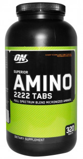 Аминокислоты Optimum Nutrition Superior Amino 2222 (320 таб)